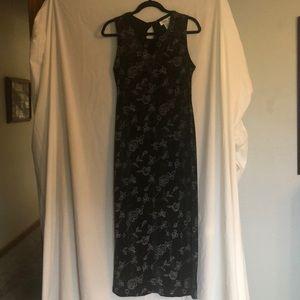 Floor length formal dress.